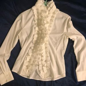 Cache White button down blouse